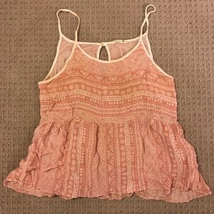 Pink spaghetti strap top